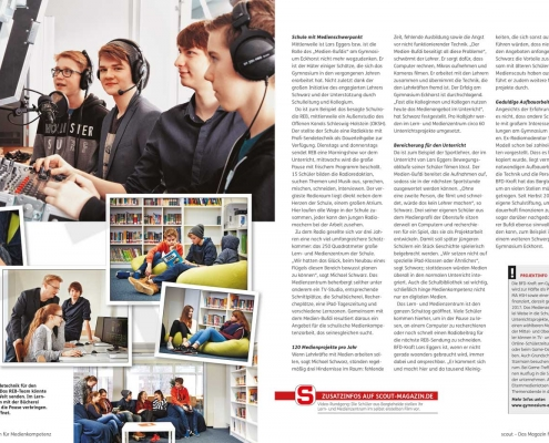 Scout Magazin Medienbildung