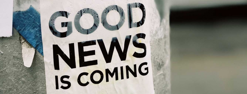 Good News is Coming by Jon Tyson / Unsplash